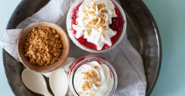 Step away from the oven with rhubarb cheesecake parfaits