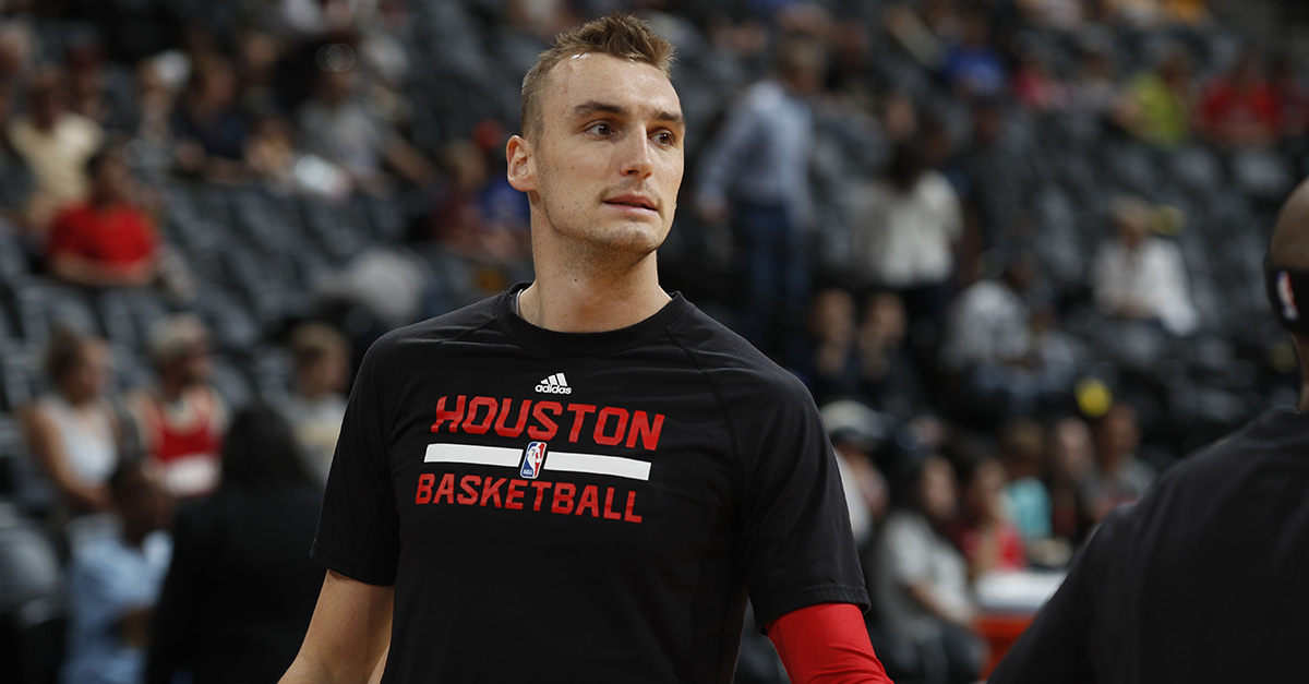 His team might have lost in the playoffs, but Houston Rockets forward Sam Dekker has won in the game of love
