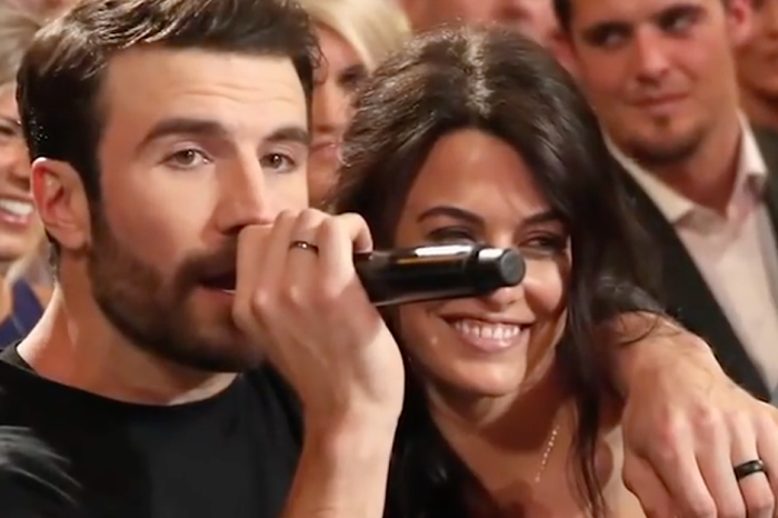 Sam Hunt just came clean about why he serenaded his wife on national TV
