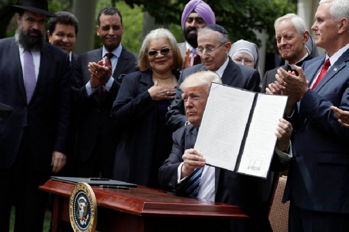 "President Trump's ""religious liberty"" executive order doesn't really do anything for religious liberty"