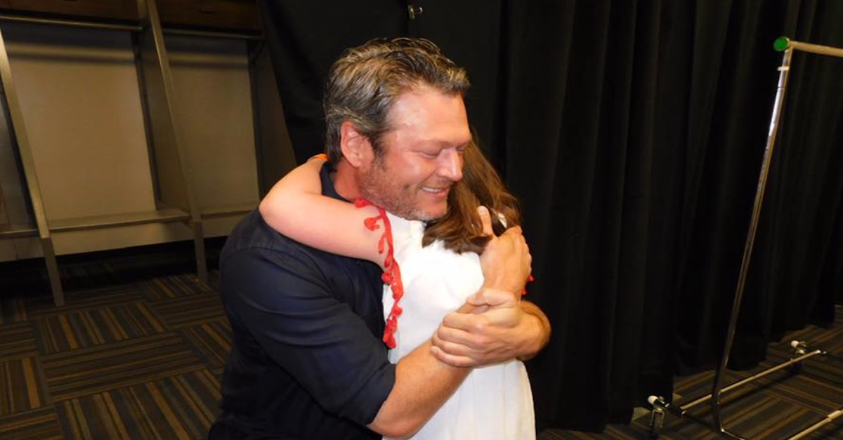 Tears flowed and Blake Shelton melted when he met this little angel