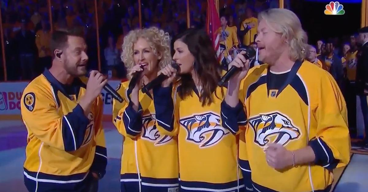 Little Big Town delivers a flawless performance of the national anthem