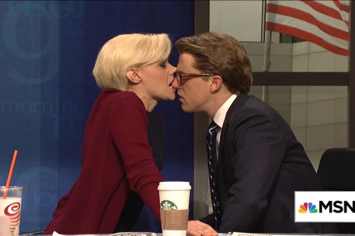 "Things got a bit steamy when ""SNL"" mocked the awkward romance between Joe Scarborough and Mika Brzezinski"