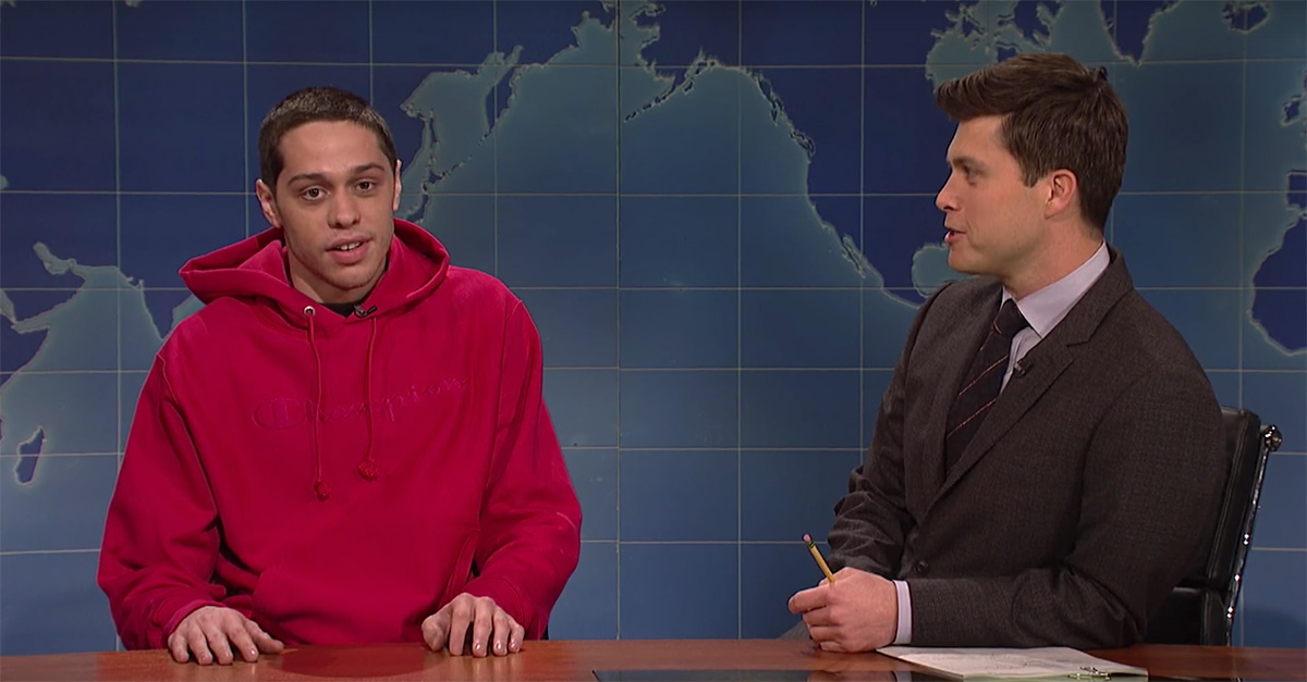 """Pete Davidson returns to """"Weekend Update"""" to talk getting sober and horse therapy"""