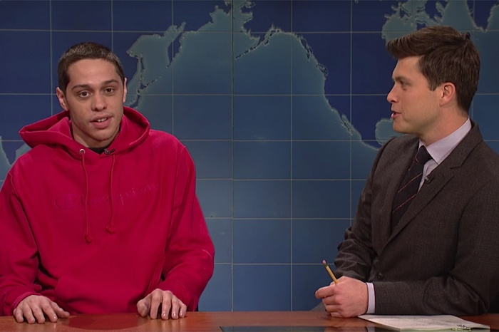 "Pete Davidson returns to ""Weekend Update"" to talk getting sober and horse therapy"