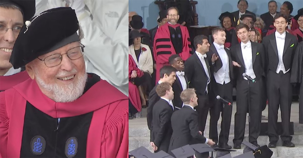 Film composer John Williams honored with a capella tribute at Harvard commencement