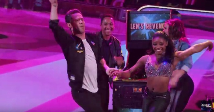 "These two dances earned Simone Biles perfect scores on ""DWTS"" but it wasn't enough to keep her in the competition"