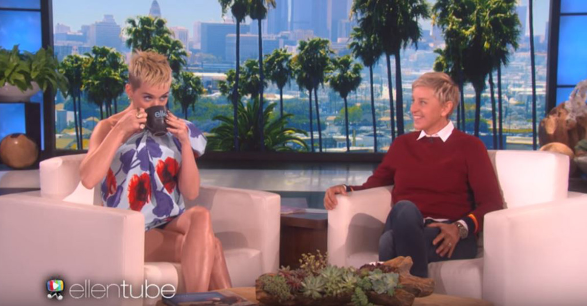 "Ellen DeGeneres put Katy Perry in the hot seat about those rumors that she's joining the reboot of ""American Idol"""