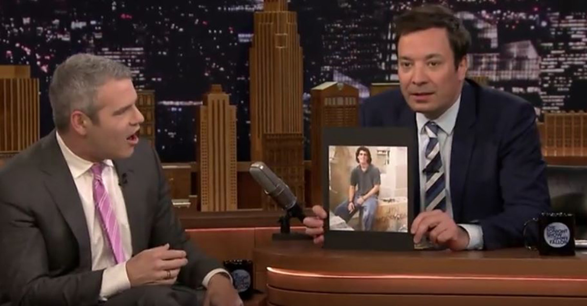 Jimmy Fallon expertly trolled Andy Cohen with these LOL-worthy photos from his awkward phase