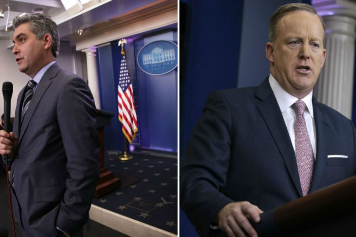 CNN's Jim Acosta calls out Sean Spicer a week after his coworker was dropped for attacking the president