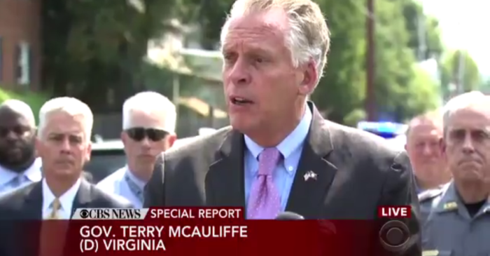 People lost it when the Virginia governor was asked about gun control following a shooting on congressmen