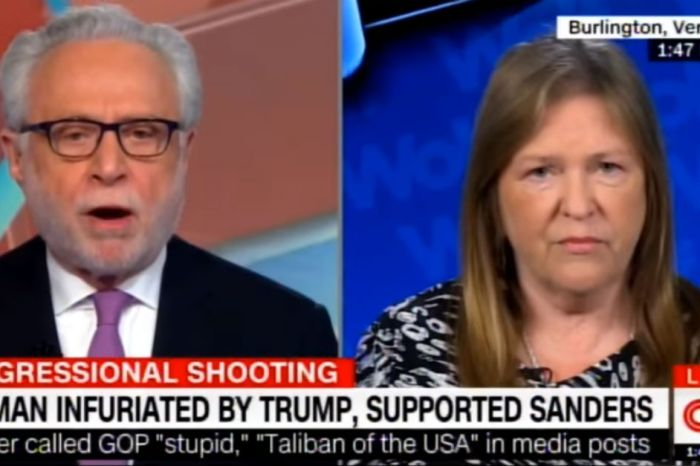 Wolf Blitzer and Bernie Sanders' wife argue the motivations that led to a gunman to target Republicans