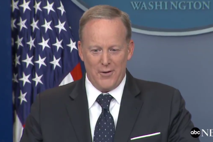 Sean Spicer let reporters know whether or not the rumors of his exit are true