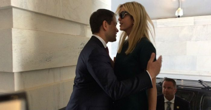 Ivanka Trump and Marco Rubio's Twitter exchange about their viral hug is amazing