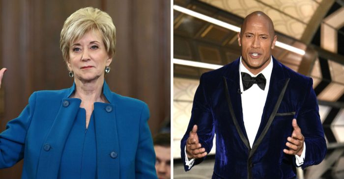 "Trump-appointed SBA Linda McMahon has some thoughts about a possible President Dwayne ""The Rock"" Johnson"