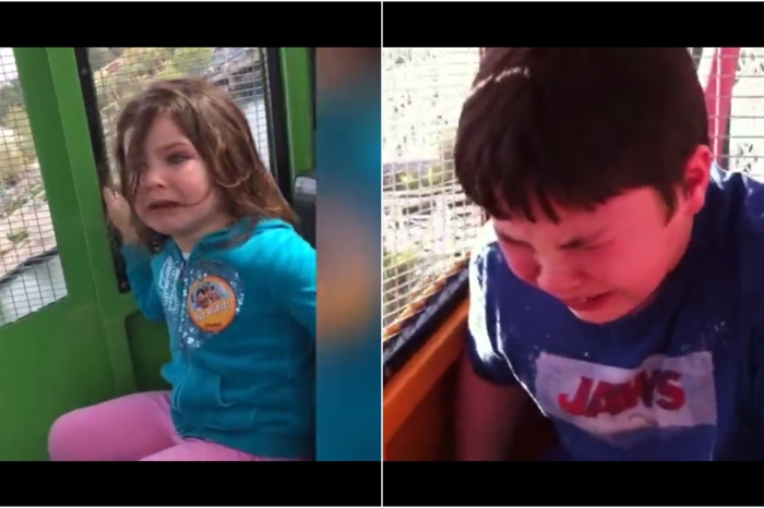 Theme parks aren't for the faint-hearted and these kids have the tears to prove it