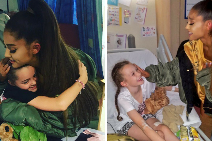 Back in Manchester for her benefit concert, Ariana Grande visits the bombing victims in the hospital