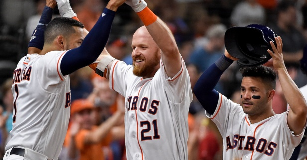 Houston Astros remind Texas Rangers that Houston is #Htownproud