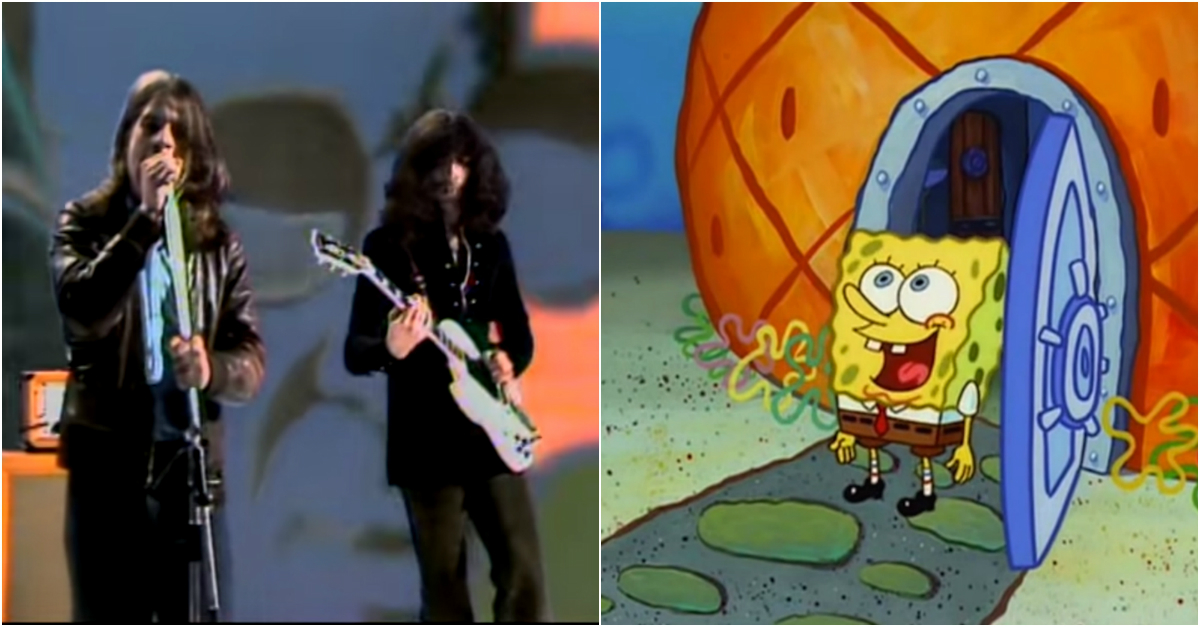 This is what it would look like if SpongeBob SquarePants joined Black Sabbath — in case you were wondering