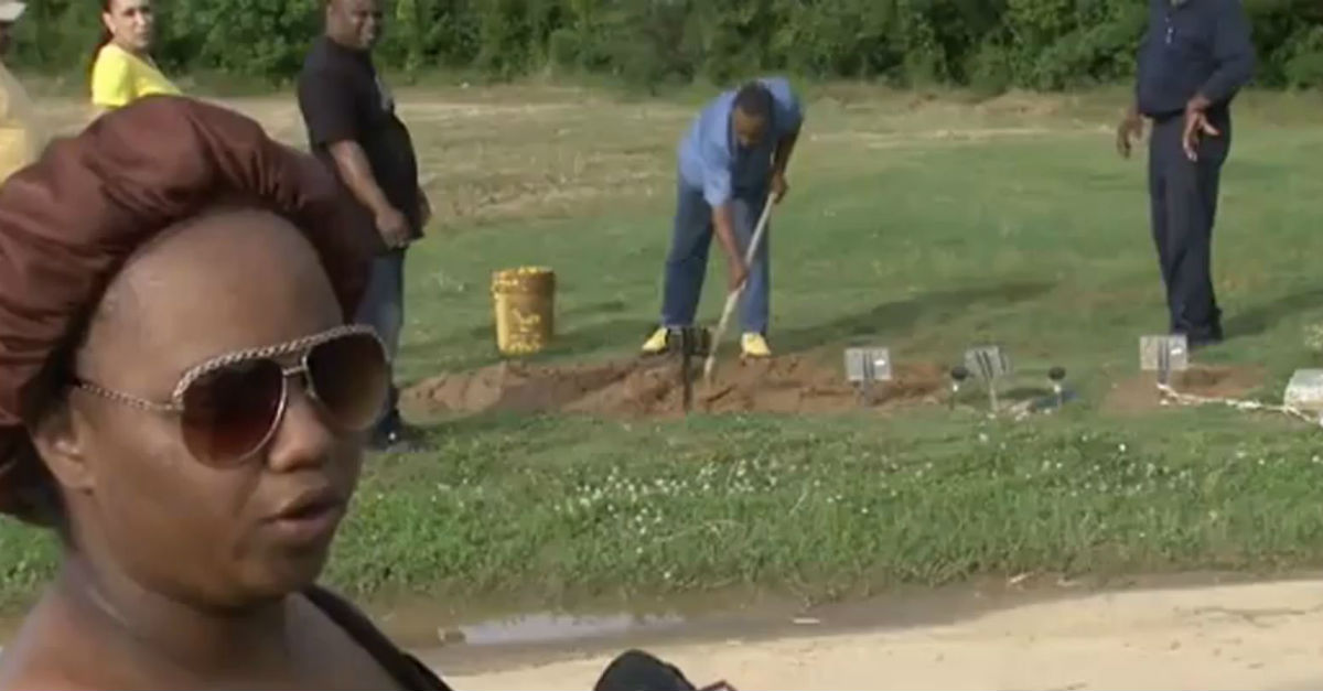 A mother was horrified when she visited her recently deceased son's grave and discovered the casket above ground