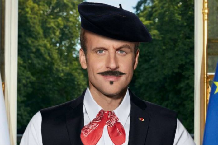 Here's French President Emmanuel Macron like you've never seen him before