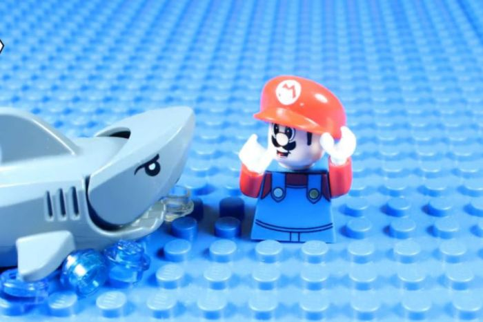 We're nominating this lego animation movie of a Mario shark attack for an Oscar