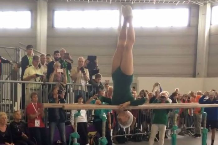 This 92-year-old gymnast tearing up the floor proves that the silver years are the best years