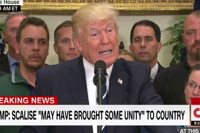 Trump praises the heroic actions of Capitol Hill police officers and offers an update on Rep. Scalise