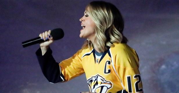 The hockey world is abuzz over Sunday night's national anthem singer