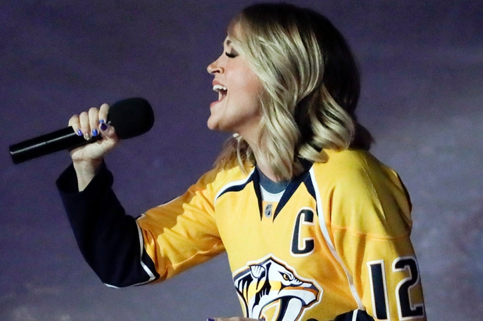 The hockey world is abuzz over Sunday night's national anthem singer