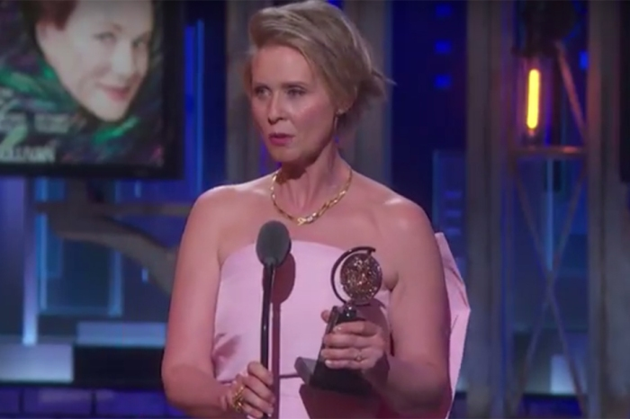 "Former ""Sex and the City"" star Cynthia Nixon got political while accepting her Tony Award, and her target wasn't hard to identify"