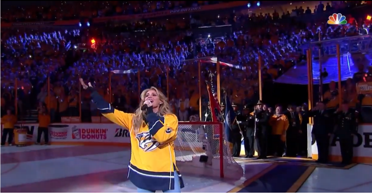 Faith Hill shocks Nashville with the most rousing national anthem