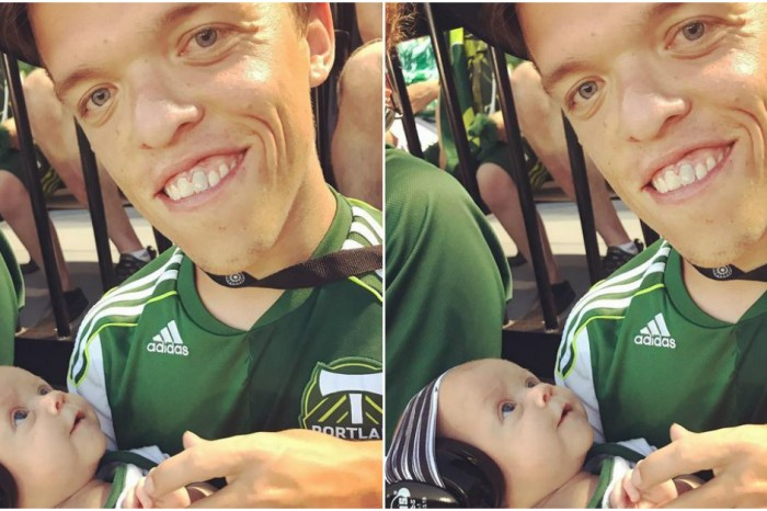 New dad Zach Roloff was absolutely beaming as he shared his love of soccer with his son Jackson Kyle