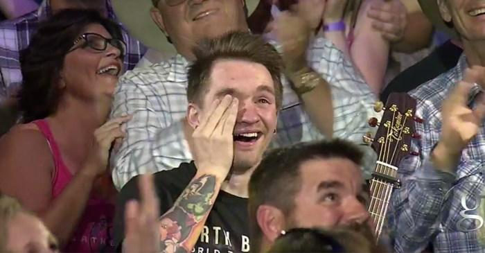 See why this Garth Brooks' superfan broke down in happy tears