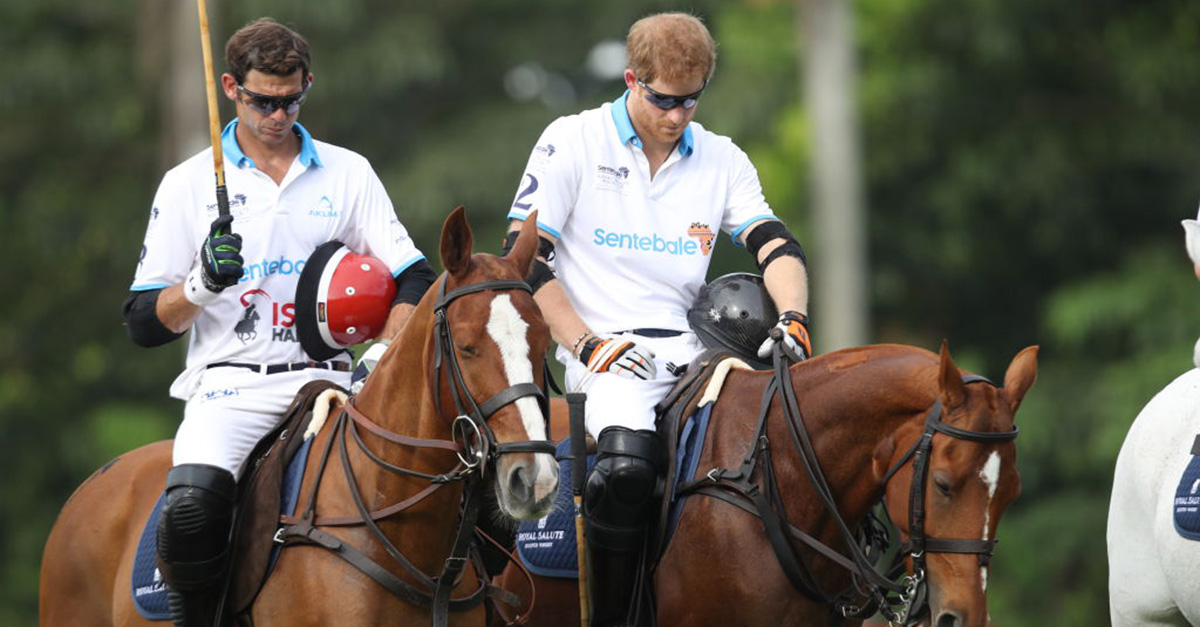 Prince Harry held a moment of silence in honor of the London terror attack victims ahead of a charity polo match