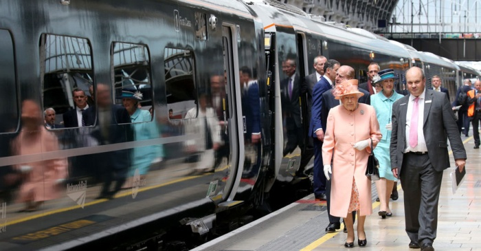 Queen Elizabeth II and Prince Philip recreated a royal train ride that was 175 years in the making