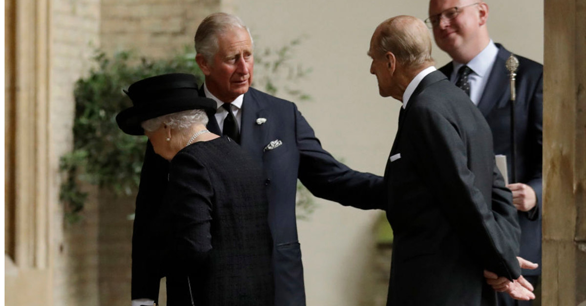 Queen Elizabeth II and Prince Philip attend the funeral of a cousin who survived an IRA bombing