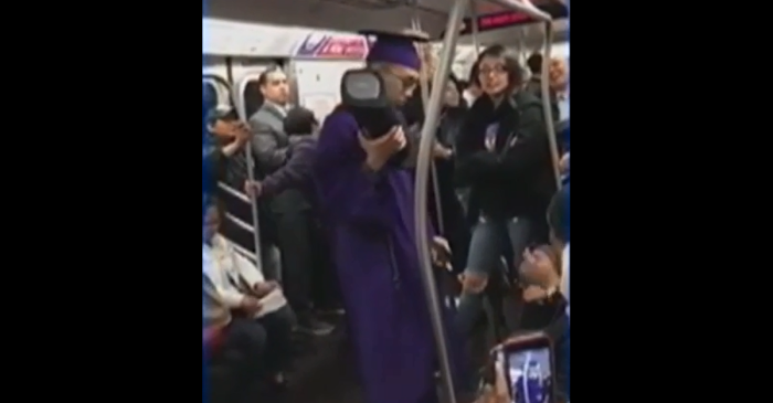 When train delays made a Queens, NY graduate miss his ceremony, the whole train leaped into action