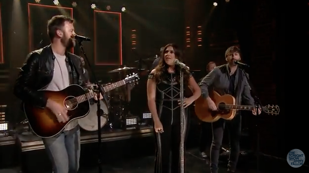 Lady Antebellum raises a glass to the single life in this late night performance