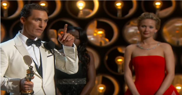 Flashback to the Matthew McConaughey speech that has motivated millions