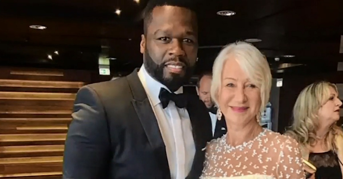 "50 Cent definitely has a crush on Helen Mirren: ""She's got that thing!"""