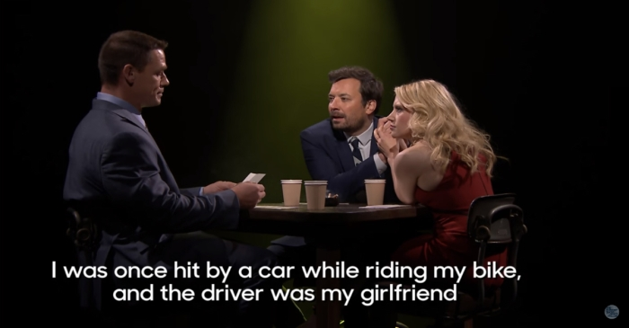 "John Cena and Kate McKinnon joined Jimmy Fallon for a raunchy game of ""True Confessions"""