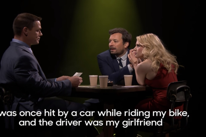 """John Cena and Kate McKinnon joined Jimmy Fallon for a raunchy game of """"True Confessions"""""""