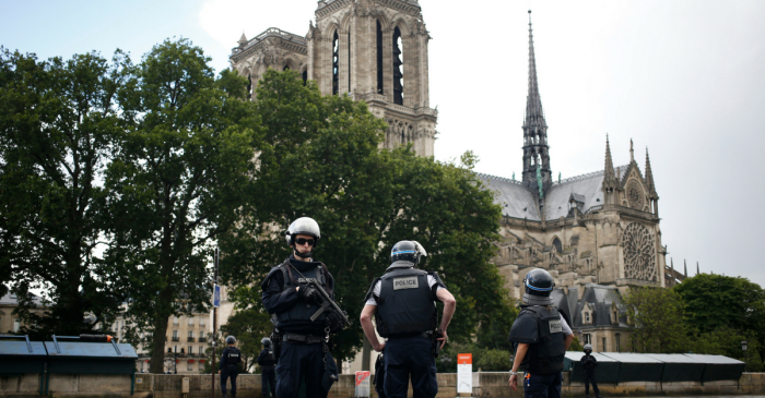 The Notre Dame attacker reportedly shouted this as he attempted to hit a police officer with a hammer