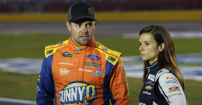Danica Patrick and boyfriend Ricky Stenhouse have a rough exchange on the track