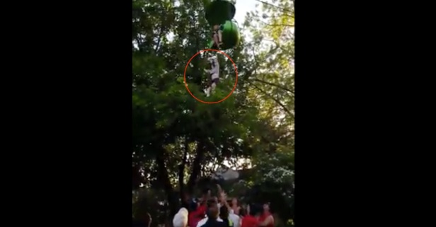 Scary Video Shows Teenager Plummeting Two Stories from Six Flags Ride