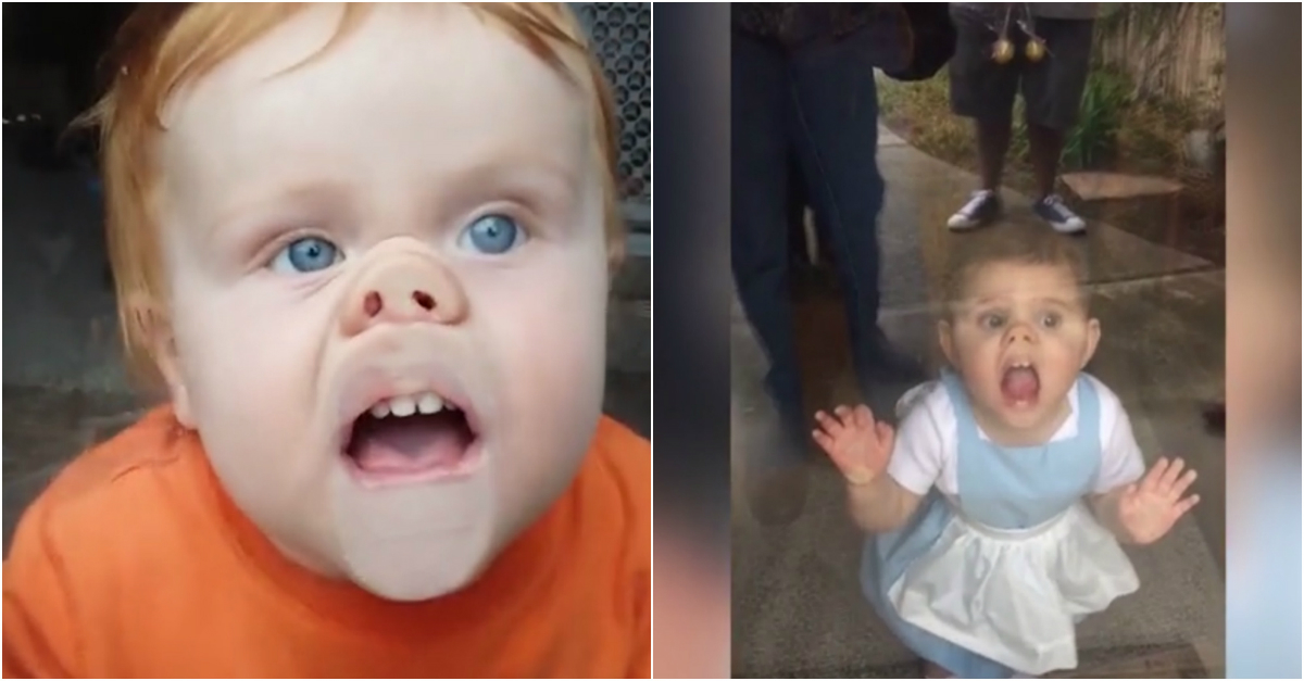 Here are 12 attention-seeking babies pressing their adorable faces up against windows