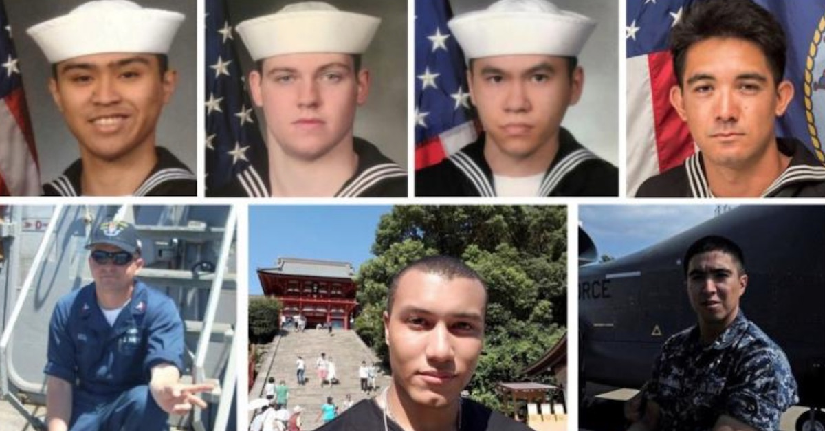 The Navy has identified the seven sailors who perished at