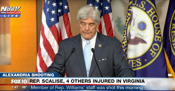 Watch as Texas Rep. Roger Williams emotionally praises the Houstonian and others injured in the Virginia shooting