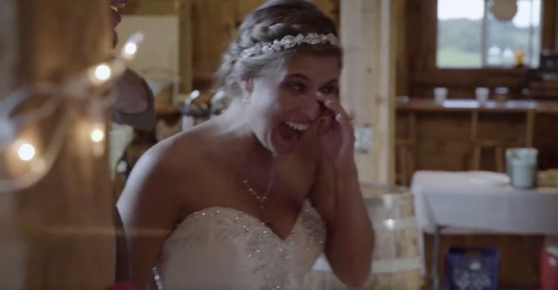 A bride is in tears after her favorite country stars give this generous gift
